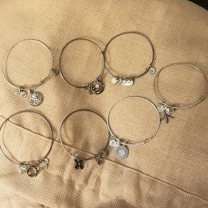 7 Alex & Ani Bracelets